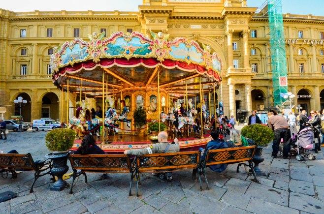 At Piazza della Repubblica - Carousel or Merry Go 'Round