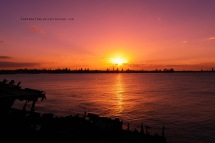Sunset at Shipwreck walk. Edited in-camera Menu functions, red filter