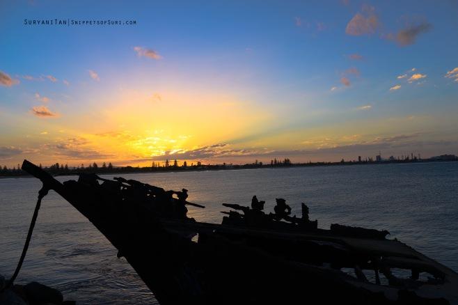 Sunset at Shipwreck walk. Edited using Adobe Lightroom 5